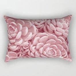 Blush Succulents Rectangular Pillow