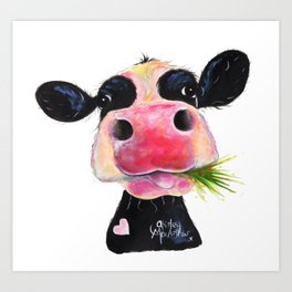 CoW PRiNT ANiMaL PRiNT ' HuRLeY BuRLeY ' BY SHiRLeY MacARTHuR Art Print
