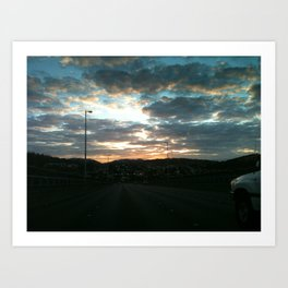 Early morning drive Art Print