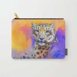 Colorful Expressions Snow Leopard Carry-All Pouch