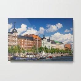 Helsinki Harbor View Metal Print