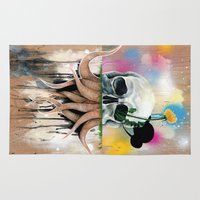 skull Area & Throw Rugs featuring Skull Roots by FAMOUS WHEN DEAD