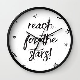 Reach for the stars! Wall Clock