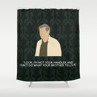 greg guillemin Shower Curtains featuring The Hounds of Baskerville - Greg Lestrade by MacGuffin Designs