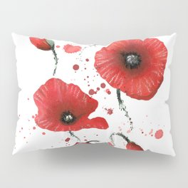 Poppies splatters Pillow Sham