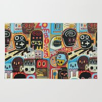 basquiat Area & Throw Rugs featuring ZOMBISKA by Exit Man