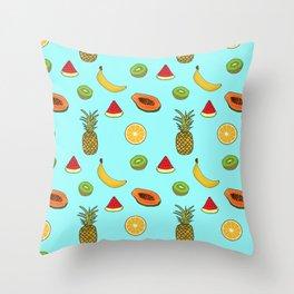Tropical Fruity Summer Pattern Throw Pillow