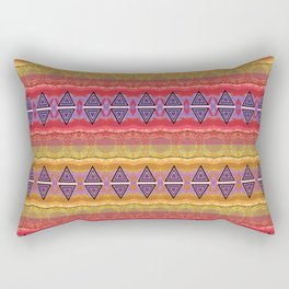 Soul Glow African Geometric Bright Bold Print Rectangular Pillow