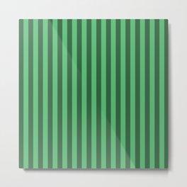 Emerald Green Stripes Pattern Metal Print