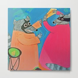 Altercation over Cheese Metal Print