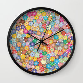 Cherry Blossom Flowers Wall Clock
