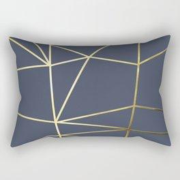 Gold Metallic Nodes 02 Rectangular Pillow