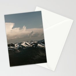 Alaska Snow Capped Mountains Stationery Cards