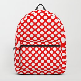 Large White Polkadots on Australian Flag Red Backpack