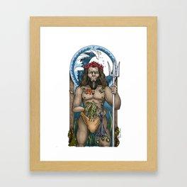 The God Poseidon Framed Art Print