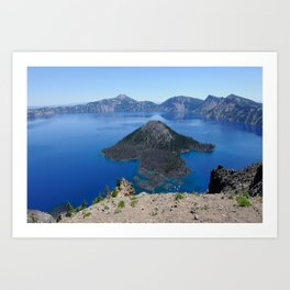 Crater Lake Volcanic Crater Oregon USA Art Print