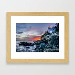 Bass Harbor Light in Acadia National Park Framed Art Print