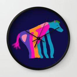 Horse Of Many Colors-Midnight Wall Clock