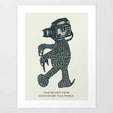Film Mummy Art Print