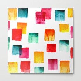 Full of watercolor squares Metal Print