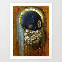 "hercules Art Prints featuring ""Masked Hercules"" by Bryan Lanier"