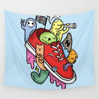 shoe Wall Tapestries featuring shoe pirates by ybalasiano