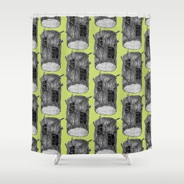 Mysterious Forest Creatures In Tree Log Shower Curtain