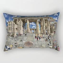 Brandenburg Gate - Photomontage Collage Rectangular Pillow