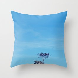 Tree on a hill. Throw Pillow
