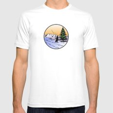 fly fishing MEDIUM White Mens Fitted Tee