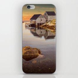 Peggy's Cove Harbor at Sunset in Nova Scotia iPhone Skin