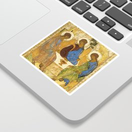 The Holy Trinity By Andrei Rublev Sticker