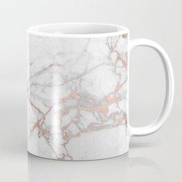 White & Gold Faux Marble Coffee Mug