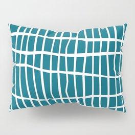 Net White on Blue Pillow Sham