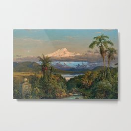 Volcán Cayambe, Ecuador Landscape Painting by Frederic Edwin Church Metal Print