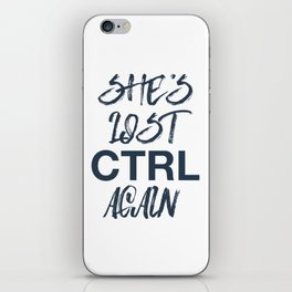 She's list control again - joy division iPhone Skin
