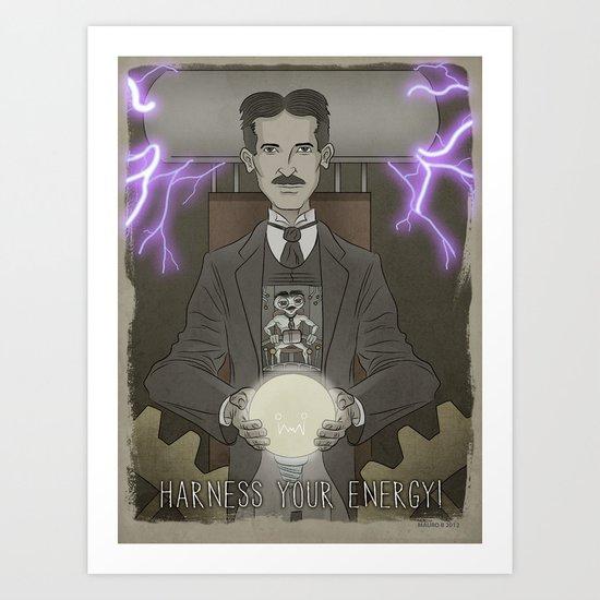 Tesla...Scientist, Inventor, ...Arquillian. Art Print
