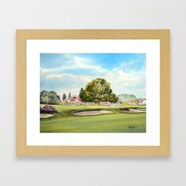Sunningdale Golf Course 18th Green Framed Art Print