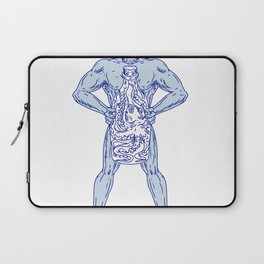 Hercules Holding Bottle With Octopus Inside Drawing Laptop Sleeve