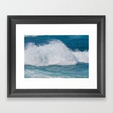 Hookipa Splash Waves Beach Break Shore Break Pacific Ocean Maui Hawaii Framed Art Print