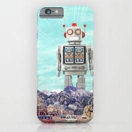 Robot in Town iPhone Case
