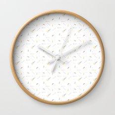 Pencils, Paper, Scissors. Wall Clock