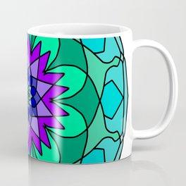 colored round mandala spectrum colors Coffee Mug