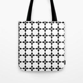 Droplets Pattern - White & Black Tote Bag