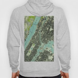Vintage Central Park & Bronx NY Map (1947) Hoody
