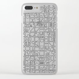 Printed Pixels Clear iPhone Case