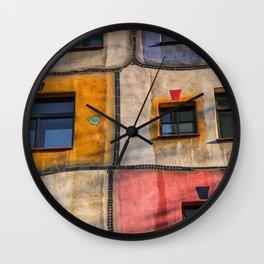 Hundertwasserhaus  Vienna Austria 2 building Wall Clock