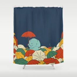 Umbrellaphant Shower Curtain