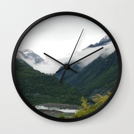 Foggy Mountain Mornings Wall Clock
