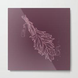 Burn sage, not our sisters (in pink) Metal Print